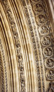 Westminster abbey main entrance architectural detail of the doorway bas relief Royalty Free Stock Image