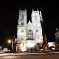 Westminster Abbey at Night Stock Photography