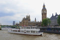 Westminster and big ben may london uk view from the boat on abbey Stock Images