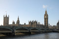 Westminster bridge and big ben london Royalty Free Stock Photography