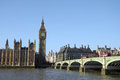 Westminster bridge and big ben london Royalty Free Stock Photo