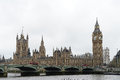 Westminster bridge and houses of parliament the with big ben officially called the elizabeth tower in london Stock Photos