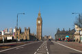 Westminster bridge in london united kingdom big ben clock tower Stock Images
