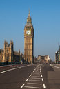 Westminster bridge in london united kingdom big ben clock tower Stock Image