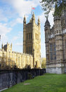 Westminster houses of parliament and abbey london uk Stock Image