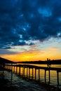 Weston sunset the in malaysia Stock Photos