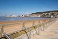 Weston super mare beach and seafront somerset promenade england uk Stock Images