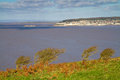 Weston-super-Mare coastline from Brean Down Royalty Free Stock Photography