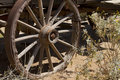 Westward Ho Old Wild West Cowboy Wagon Wheel Stock Image