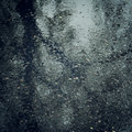Wet asphalt with a tree trunk reflection - vintage effect. Royalty Free Stock Photo