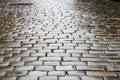 Wet block-stones of sett paving Royalty Free Stock Image