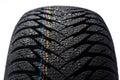 Wet car tire on white Royalty Free Stock Photo