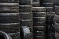 Wet car tyres Royalty Free Stock Image