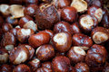 Wet chestnuts Royalty Free Stock Image