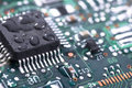 Wet circuit board Royalty Free Stock Photo