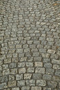 Wet cobbled Road Close up Royalty Free Stock Photo