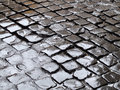 Wet cobbles Stock Photography
