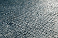 Wet Cobblestone Street Royalty Free Stock Photo
