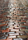 Wet cobblestones Stock Photo