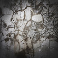 Wet cracked gray concrete wall abstract original background Royalty Free Stock Photo