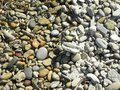 Wet and dry beach pebbles. Royalty Free Stock Photo