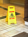 Wet floor Royalty Free Stock Photo