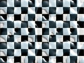 Wet floor black white tiles Royalty Free Stock Image