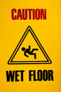 Wet floor sign Royalty Free Stock Photography