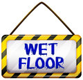 Wet floor signboard Royalty Free Stock Photo