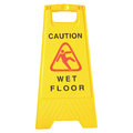 Wet floor signs isolated white design Stock Photo