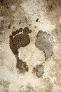 Wet foot print Royalty Free Stock Photo