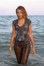 Wet girl Royalty Free Stock Photo