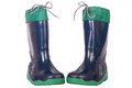 Wet gumboots for children Royalty Free Stock Photography