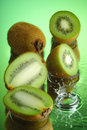 Wet Kiwi #2 Royalty Free Stock Photography