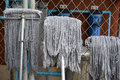 Wet Mops Royalty Free Stock Photo