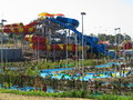 WetnWild water park with lazy river Royalty Free Stock Photo