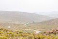 Wet nuwekloofpas descending into the baviaanskloof a new valley pass baboon valley during a rain storm Royalty Free Stock Images