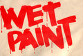 Wet Paint Stock Photo