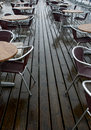 Wet Pavement Cafe Royalty Free Stock Photo