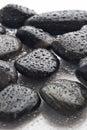 Wet river rocks