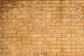 Wet stain brick wall the is from rain Royalty Free Stock Image