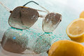 Wet sunglasses Royalty Free Stock Photo