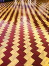 Wet tiles on a plaza floor in spain Royalty Free Stock Images