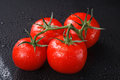 Wet tomatoes Royalty Free Stock Photo