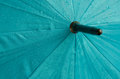 Wet umbrella background on a rainy day Stock Image