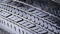 Wet Worn Tire Grooves Stock Image