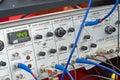 Wetenschappelijke apparatuur console Stock Foto's