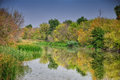 Wetlands national park carska bara in vojvodina on the river begej Royalty Free Stock Photography