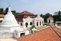 Wewurukannala vihara tile roof and temple in near dikwella sri lanka Stock Image