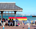Weymouth dorset a victorian shelter and the seafront at the british seaside resort of england uk Stock Images
